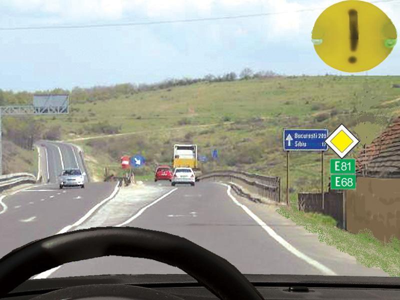 Conducătorul autoturismului din imagine va circula cu: itemprop=