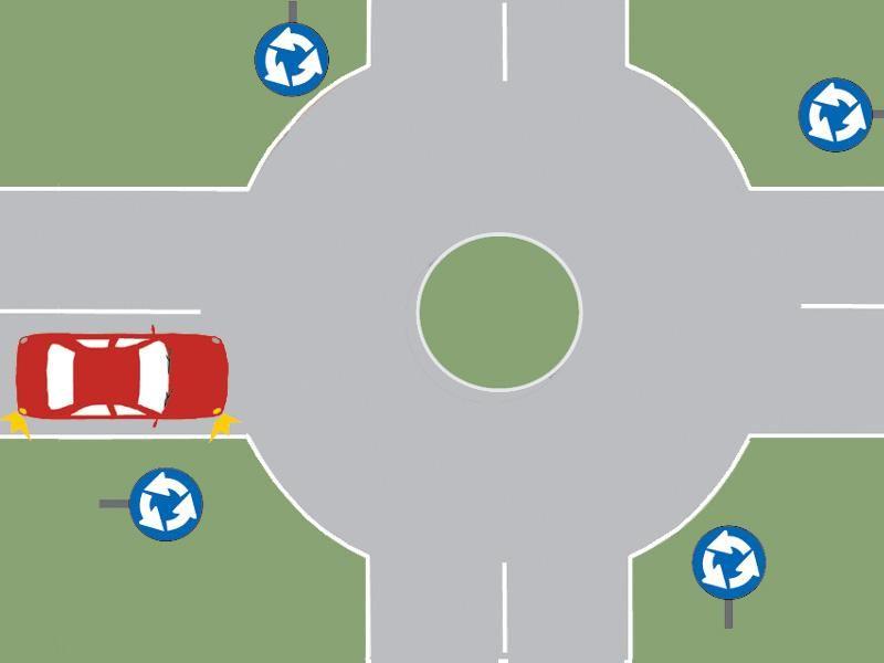 În această situaţie, intenţionaţi să viraţi pe prima stradă la dreapta. Ce obligaţii aveţi? itemprop=