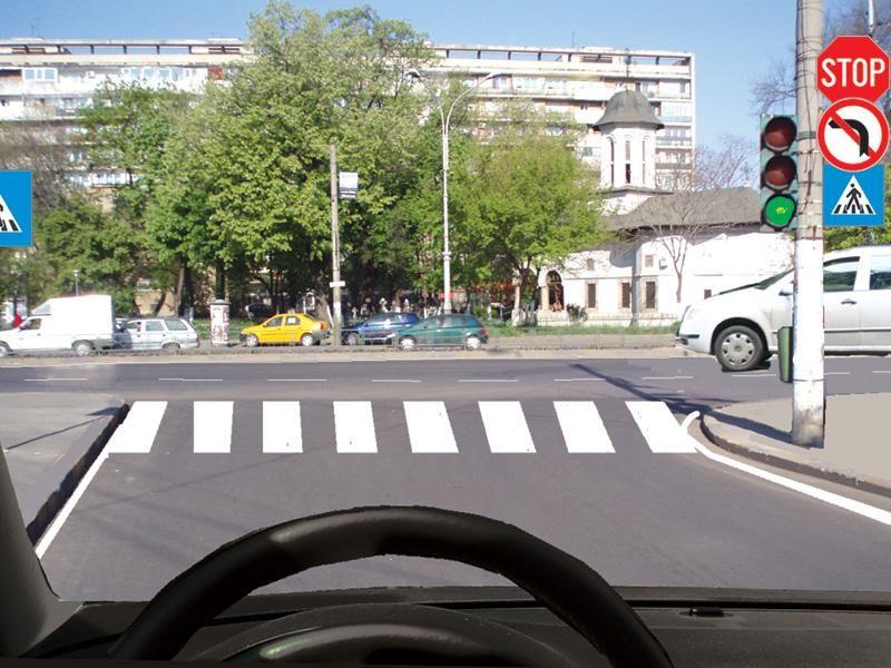 În această situaţie trebuie să cedaţi trecerea vehiculului din dreapta? itemprop=
