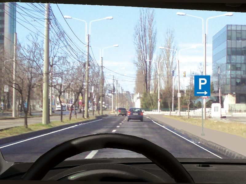 Unde veţi parca autovehiculul la întâlnirea acestui indicator? itemprop=